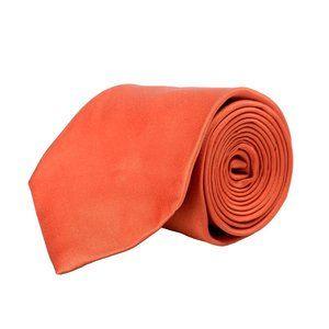Gianfranco Ferre Men's Silk Solid Orange Neck Tie